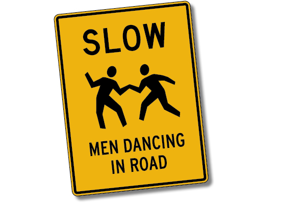 Slow, Men Dancing in Road