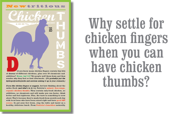 Chicken Thumbs Poster